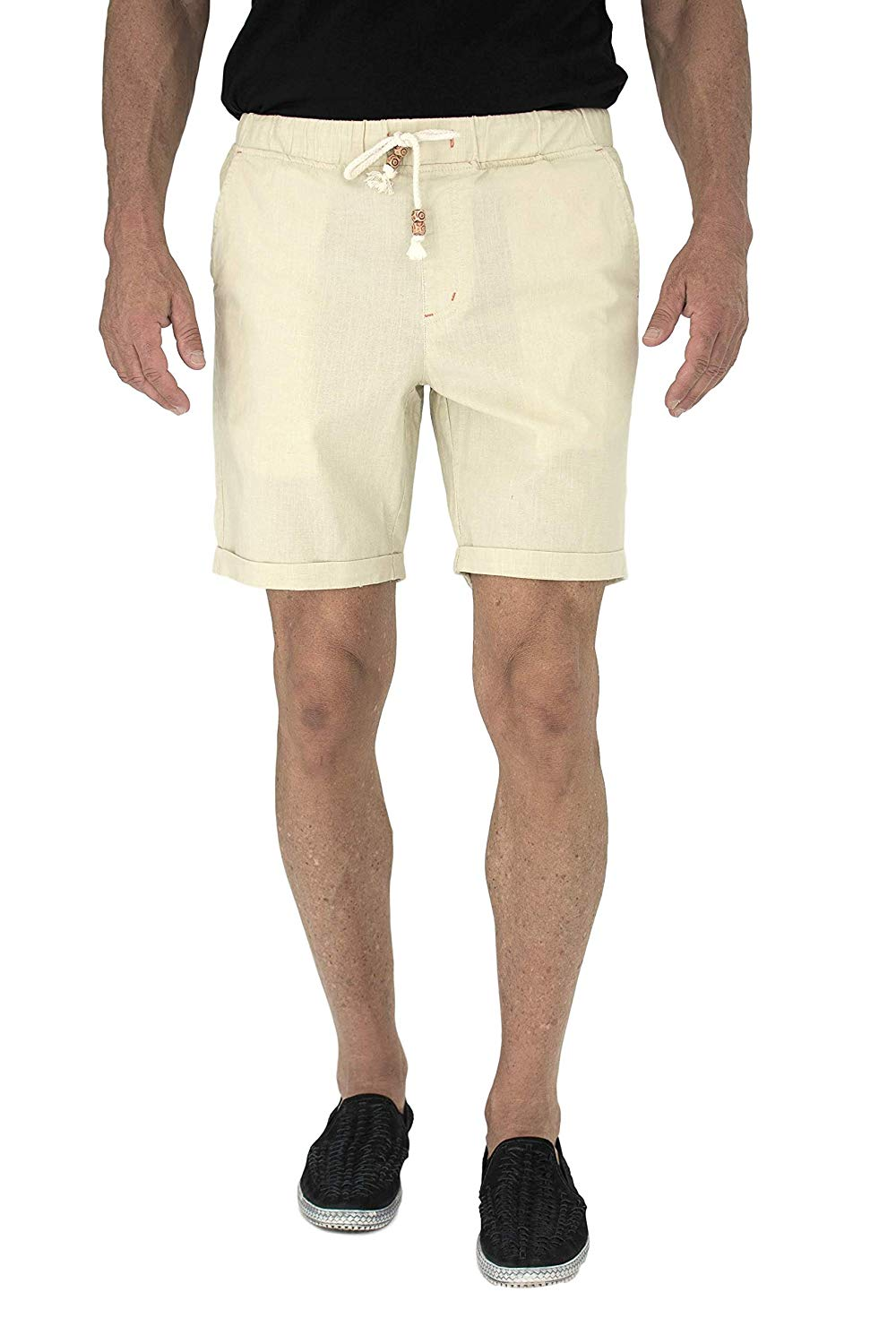28e99998ac Short Fin Mens Walking Shorts W/Full Elastic Waist Made with Stretch Cotton