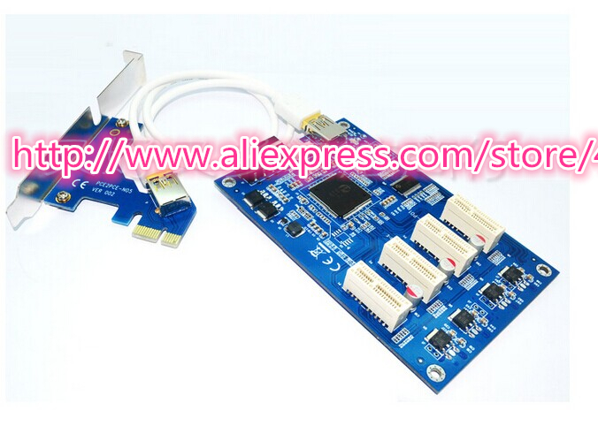 1x) x1-PCIe to (3x) x1-PCIe riser board - thoughts