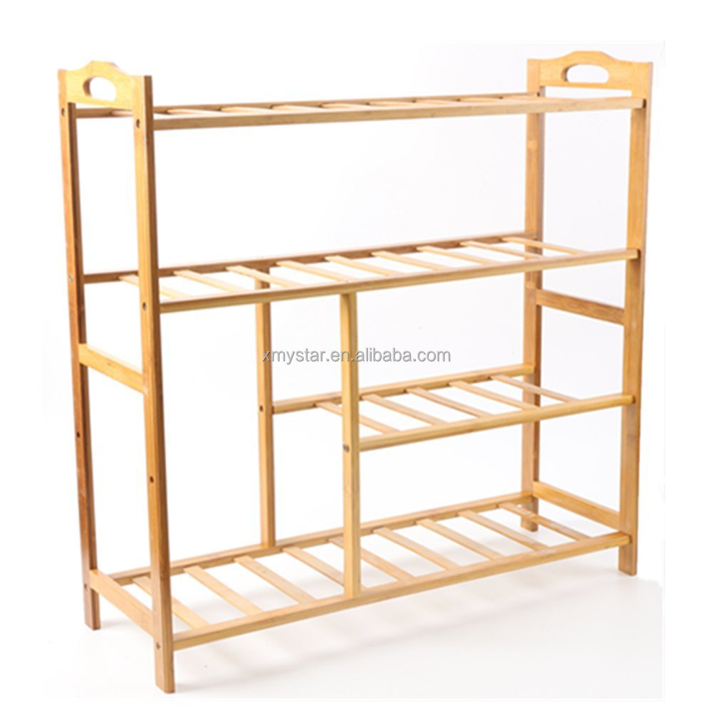 organic Home unique design Bamboo Shoe Rack storage rack factory BSCI