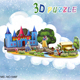 Custom High Quality 3d puzzle toys for kids ,Snow White puzzle