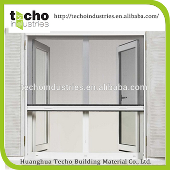 Vertical flyscreen window mosquito net insect screen for Vertical retractable screen