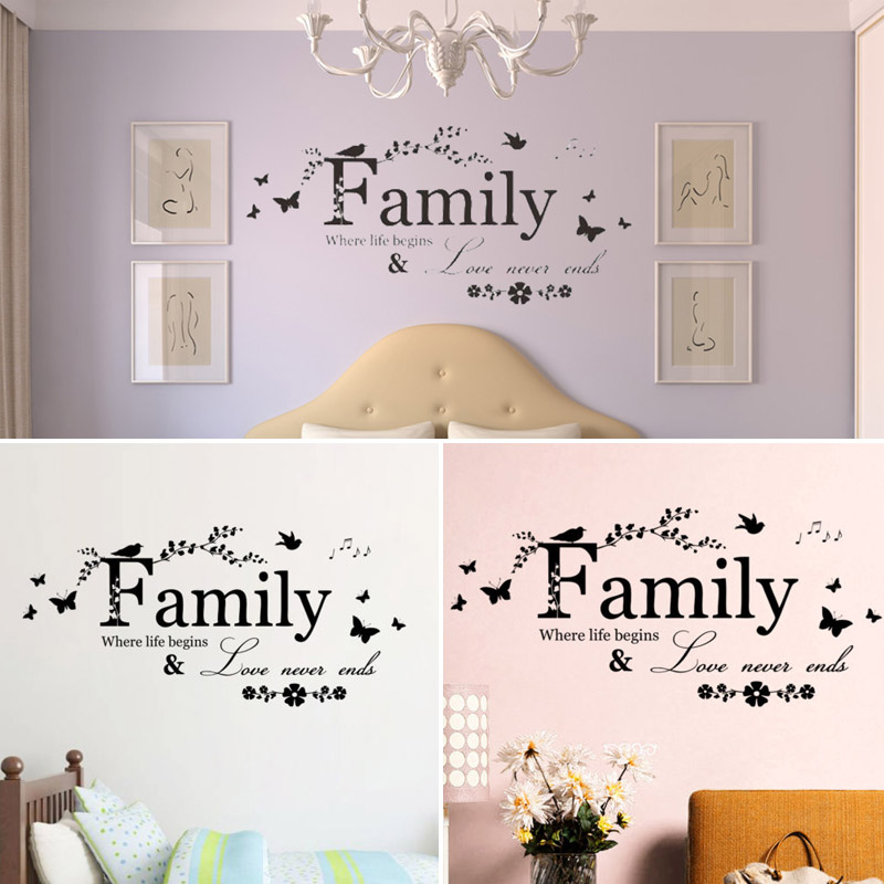 New Natural Family Butterfly Branch Mural Home Decor Removable Art DIY Wall Sticker Gift Delightful