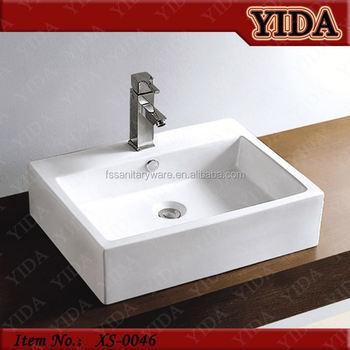 Ceramic Bathroom Sink, Plastic Hand Wash Basin, Table Top Wash Basin