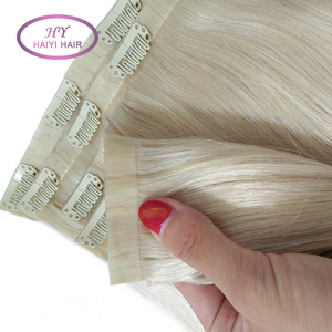 Virgin European hair straight pu skin weft 613 blonde hair weave