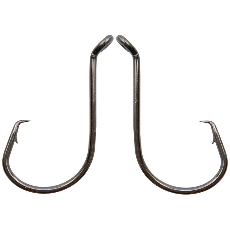 100pcs Strong Offset Circle Hooks Hi-Carbon Steel Octopus Fishing Hook #1-5//0