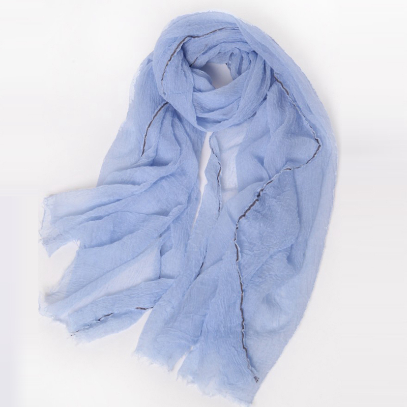 Ultra Thin Fancy Moderne Scarf Crinkle Cashmere Scarf
