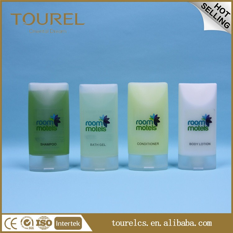 CE ISO FDA Approval Nature Eco Friendly Hotel guest amenities disposable Shampoo & Conditioner & Bath gel & Lotion 40ml