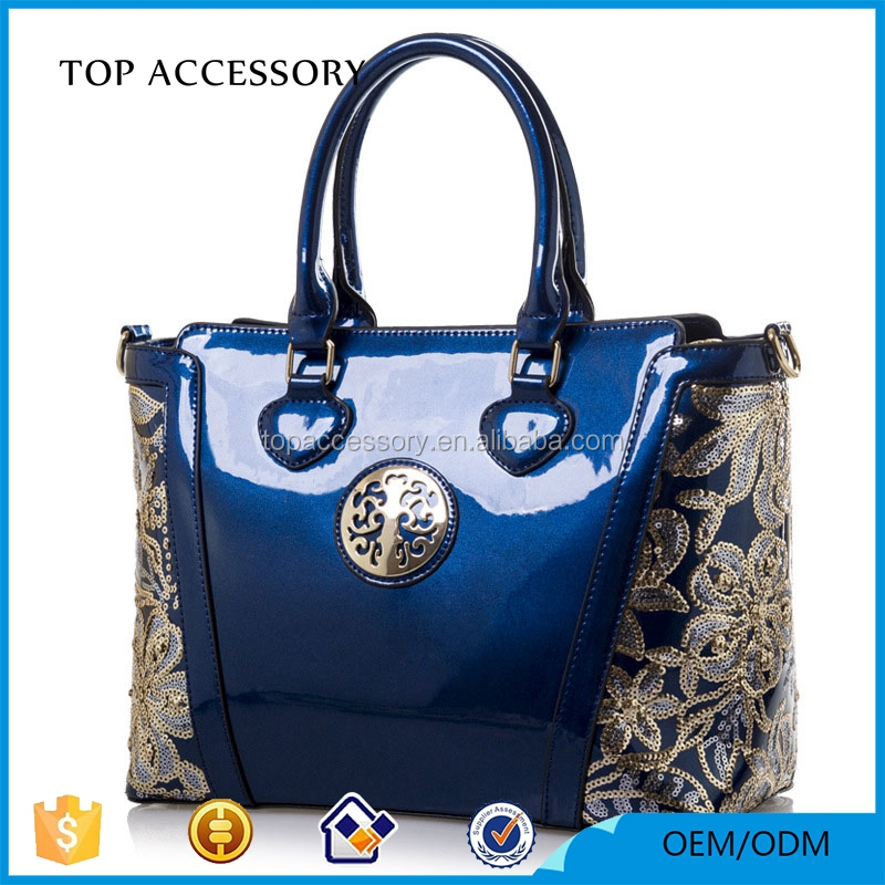 Colorblock Embroidery Vegan Leather Bags Women