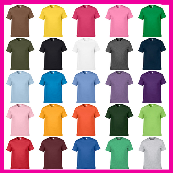 Custom Advertising Group100%Cotton Man Blank T Shirt Wholesale China