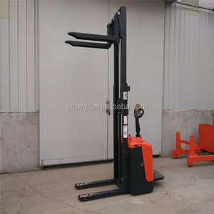 1 ton 1.6 m Powered Pallet Truck/ small electric stacker forklift