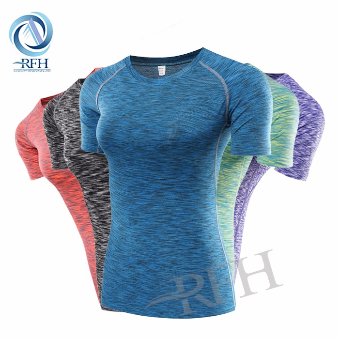 Wholesale sports clothing print compression fitness crop tops body fit clothing