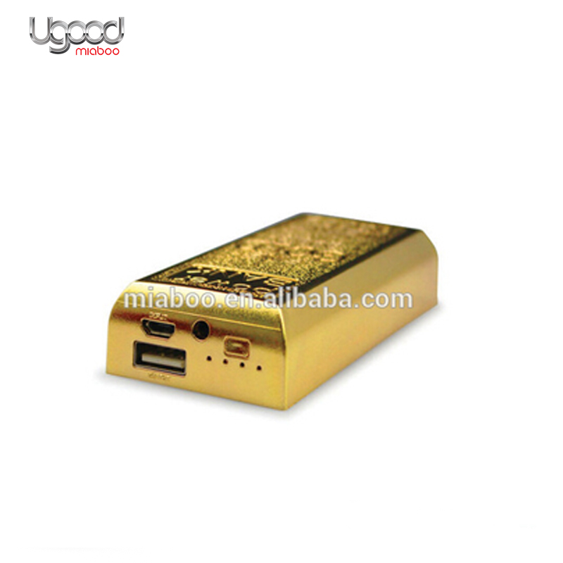 Fine Gold Bar Shape Power bank,new portable mobile charger,power bank manufacturer Accept Paypal