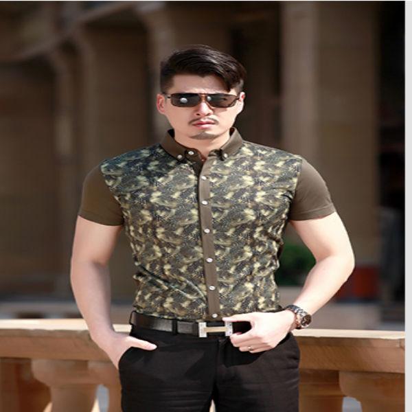d915a2cc3971d la última moda nuevo modelo de camisas para hombres 2014-Camisas de ...