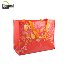 Hot Stamping Full Printing Surface PP Woven Tote Shopping Bag