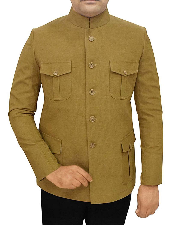 f7b64685855 Get Quotations · INMONARCH Mens Olive Corduroy 2 Pc Jodhpuri Suit 4 Pocket  JO470