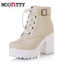 Dámské kotníkový boty s platformou