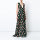 New product applique maxi floral gown dresses women evening