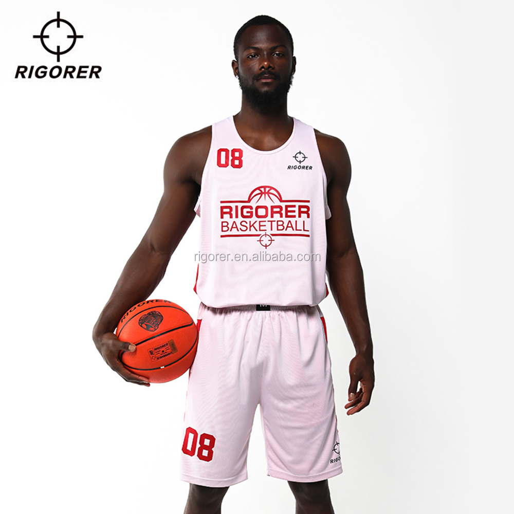 2018 Newest Basketball Jersey Reversible Simple Design Basketball Jersey White and Black with Reversible Upper