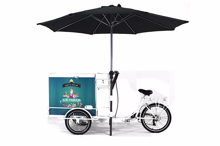 high quality ice cream trike with battery freezer