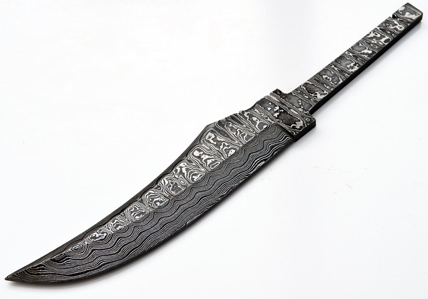 Hunting Knife Making Damascus Upswept Large Blank Knives Steel 1095 High Custom Blade