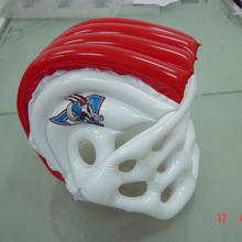 Eco-vriendelijke PVC <span class=keywords><strong>opblaasbare</strong></span> plastic American football <span class=keywords><strong>helm</strong></span> promotionele