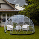 cheap transparent pvc yurt house tent with round pvc fabric door
