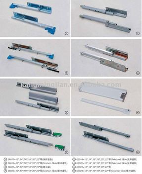 High Quality Different Types Of Full Extensiion Ball Bearing Drawer Slides For Drawers