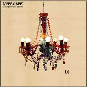 Royal Palace Acrylic Chandelier with Colored Beading MD2650