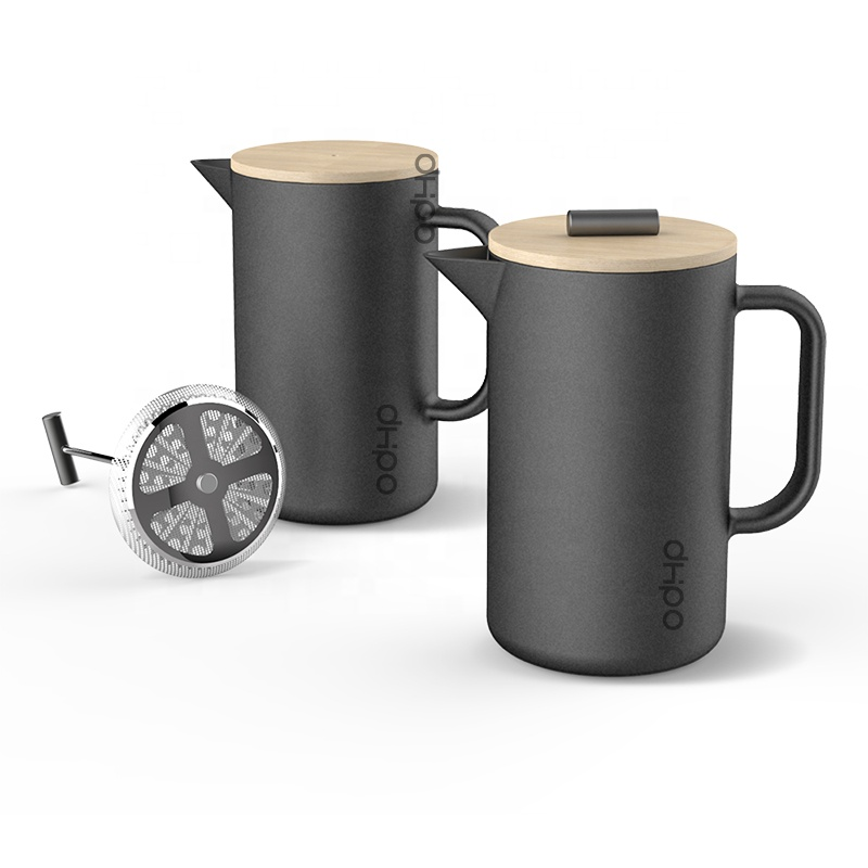 DHPO Ceramic French Press <strong>Coffee</strong> & Loose Leaf Tea Maker with SLS Plunger