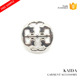 KAIDA Garment accessories decorative sewing silver zinc alloy cute button