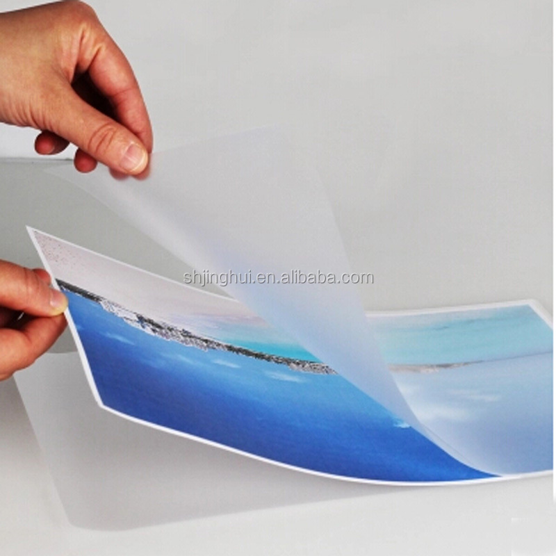UV resistant cold-lamination film Suitable for solvent and eco-solvent wide format inkjet printing