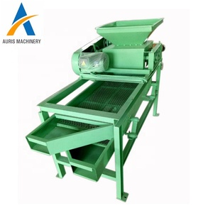 Small palm almond separator almond hulling dehusking machine