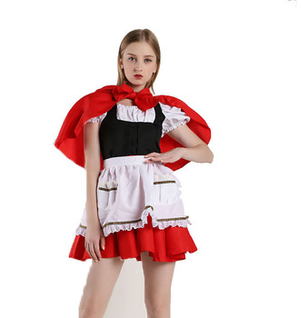 Costume Halloween Christmas princess dress adult little red riding hood