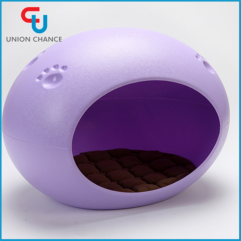 Hot Sale Egg Shaped Pet Bed Windproof Purple Pet House Fresh PP Pet Bed