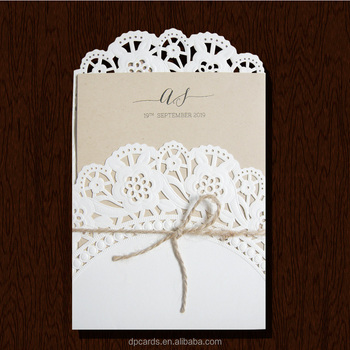 Wholesale Die Cut Invitation Cards Models Rustic Wedding Invitation