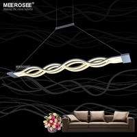 L100cm 120cm New Creative Modern LED Pendant Lights Wave Hanging Lamp Dining room Living room Pendant Home Lighting MD83057