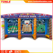 commercial inflatable sports zone 3 in 1 for sale