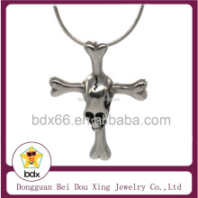2018 Casting New Design 316L Stainless Steel Religious Skull Jesus Cross Head Pendant Made In China Factory