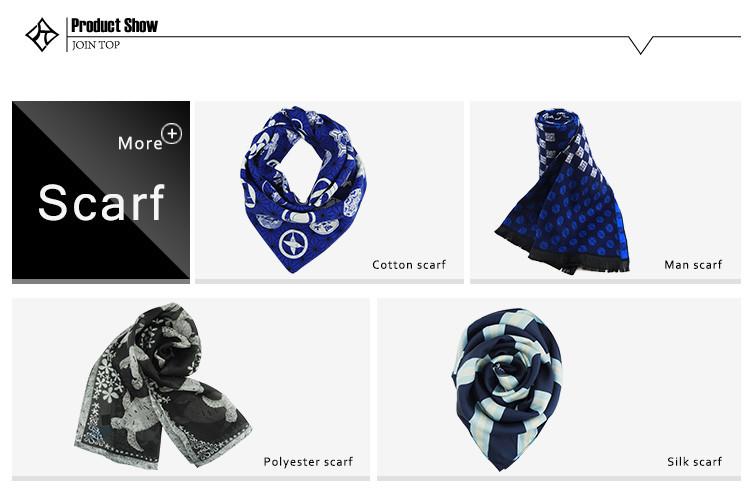 China Design Popular Women Style Lady Printing Silk Scarf