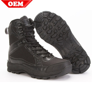 Split leather police boots shoes for police use army tactical boots Tactical Army boots