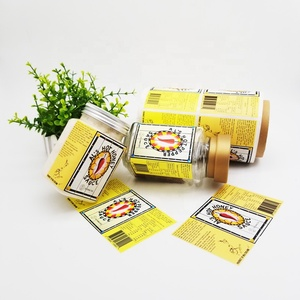 Eco friendly Private Spice Jar Labels Food, Custom Printing Permanent Vinyl Sticker Adhesive Supermarket Shelf Label