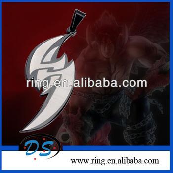 Tekken By Inspired Stainless Steel Jin Kazama Tattoo Tag Pendant