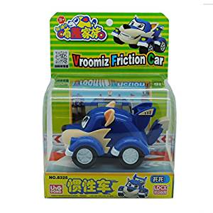 Big!!! Anime Vroomiz Classic Kawaii South Korea Friction Pull Back Cars Cartoon Toys For Children gift Baby Wind Up Toys (Color: Blue)
