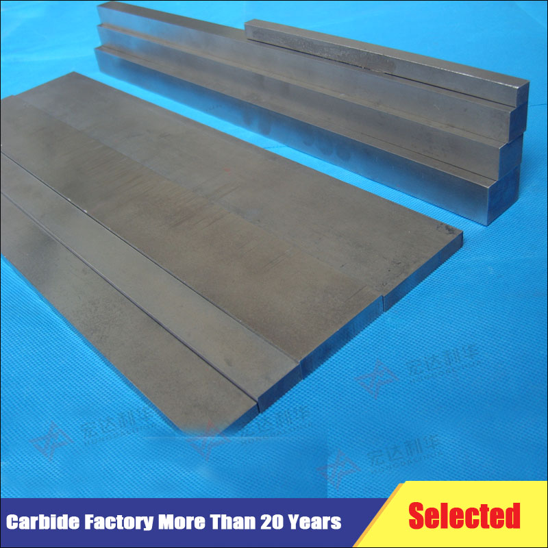 ISO manufacturer supply customized K10 cemented tungsten carbide strips,flat bar,square bar,flat for cutting