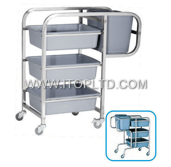 Stainless Steel Clearing Trolley