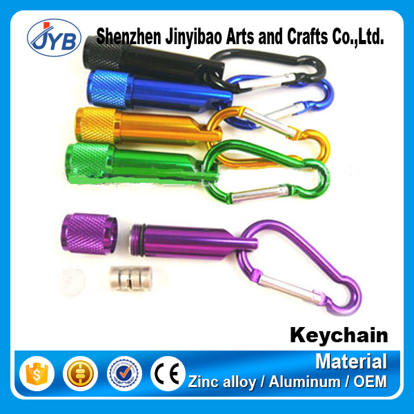 Multicolor wholesale cheap price keychain with led light