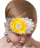 Smile Lovely Baby Girls Headbands Rhinestone Flower Headbands For Girls Infant Hair Band for kids HB325