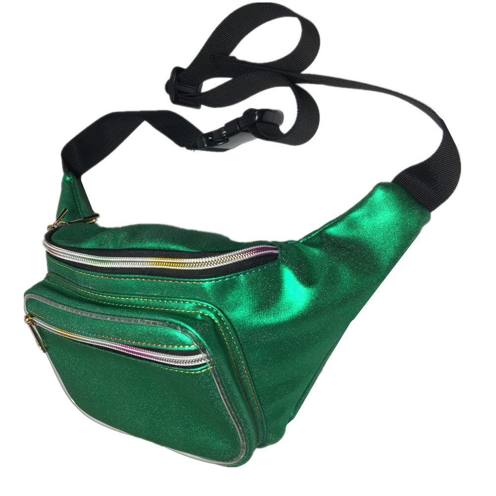 Andear Hologram Waist Bag Waterproof Sports Hiking Running Belt Fanny Pack