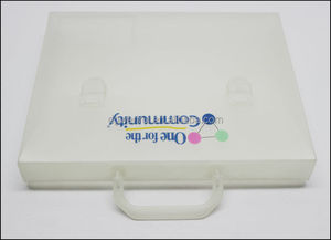 Factory price pp plastic document file box/ plastic snap fastener file bag