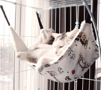 2019 New Design Pet Suppliers Wholesale in China Pet Hammock for cashmere Swing Cat Mesh Bed Pet Hanging Cat Hammocks